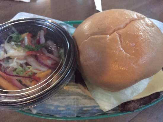 Hungry Bear Restaurant: Hamburger with cole slaw