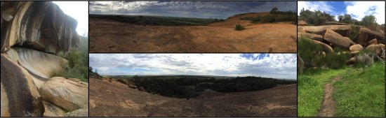 Bruce Rock, ออสเตรเลีย:  Kokerbin Rock, reputed to be the 3rd largest monolith in Australia, is approx. 50kms from Bruce