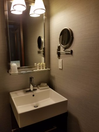 Fairfield Inn & Suites New York Manhattan/Times Square: Sink area is in the bathroom. Not ideal for two ppl in a room.
