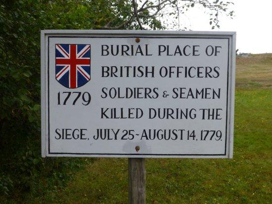 Castine, ME: Historic Marker at Fort George