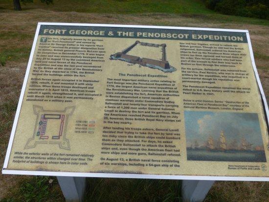 """Castine, ME: Description of the """"palisades earthworks fort"""