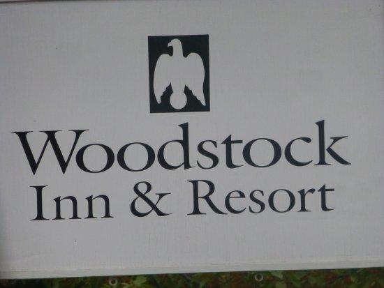 Woodstock Inn and Resort: 旅店招牌