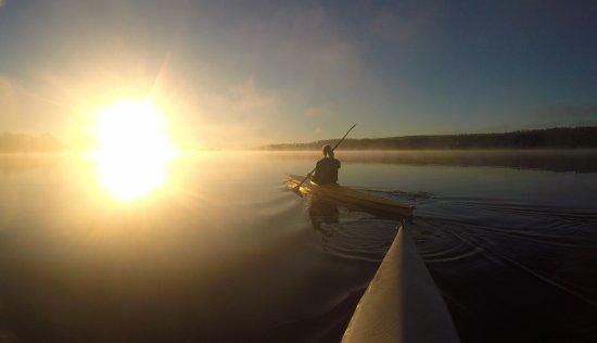 Early morning kayak at Ramoa Adventure Village, Ramkvilla Sweden