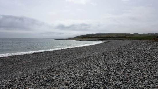 Port Logan, UK: view from the edge of the camp site