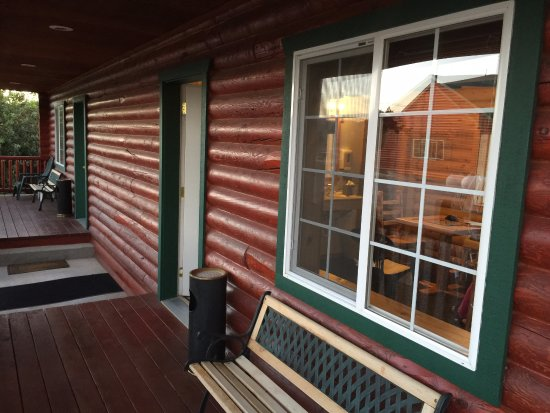 Thayne, WY: Front patio of Cabin