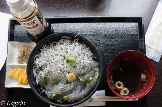 Ikata-cho, Japon : 生しらす・釜揚げしらすハーフ丼