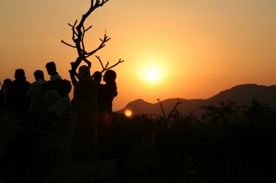 Catching Sunset at Pachmarhi