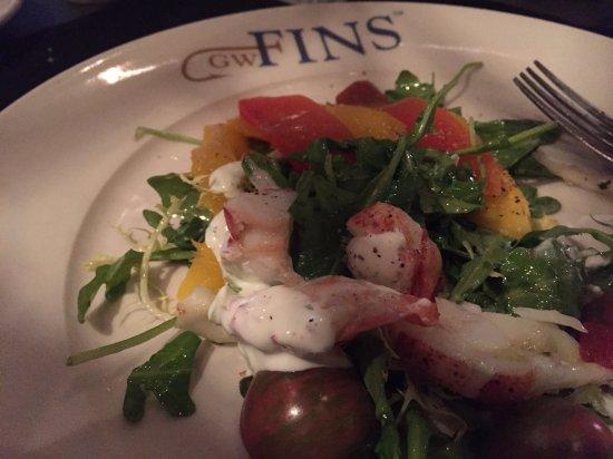 GW Fins: lobster salad
