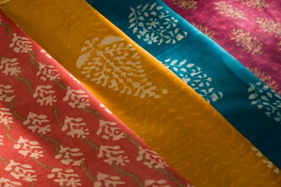 Madhya Pradesh, India: Named after Bagh Village - Bagh fabric use of natural colours from different plants & vegetables