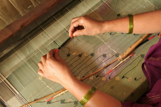 Madhya Pradesh, India: Chanderi Fabric is the native fabric of Chanderi