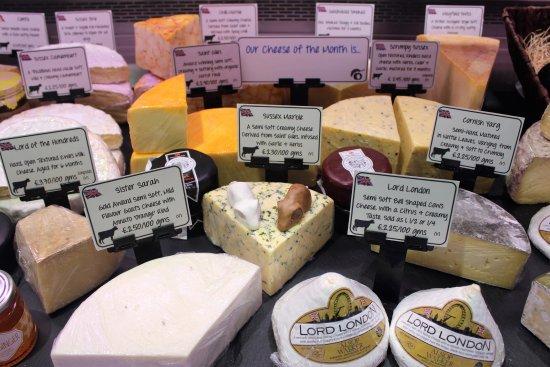 Cranbrook, UK: Great range of Cheeses