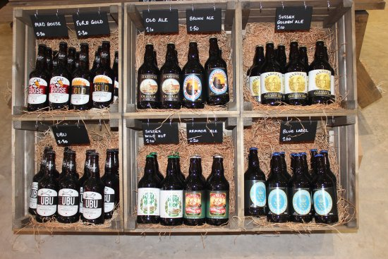 Cranbrook, UK: We stock local wine, beer and ciders