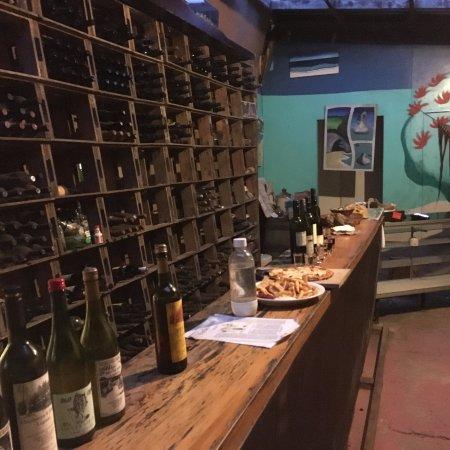 Cooks Beach, Nueva Zelanda: one half of the wine cellar. Also where the magic happens.