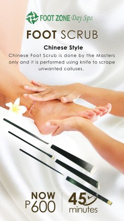 San Juan, Filipinas: It's time to give those feet a good treat! Try our Foot Scrub Chinese Style only at Footzone Day