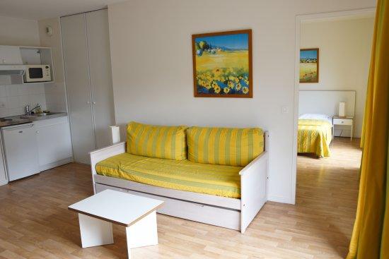 Zénitude Hôtel-Résidences Serena : Séjour appartement