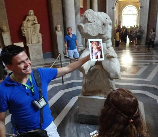 What a Life Tours: Our tour guide Angelo inside the Vatican.