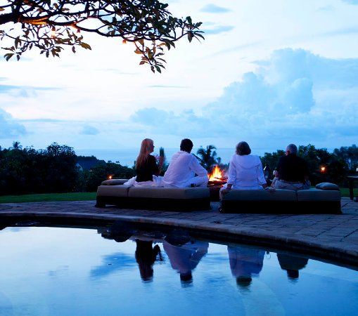 The Damai: Sunset by the pool