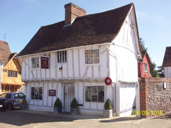 Bury St Edmunds, UK: the ancient building are used as shops and cafes