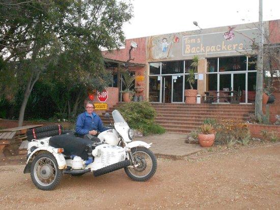 Centurion, Güney Afrika: The Biker that stayed over.