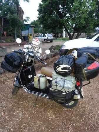 Centurion, Güney Afrika: The Greek biker on Vespa