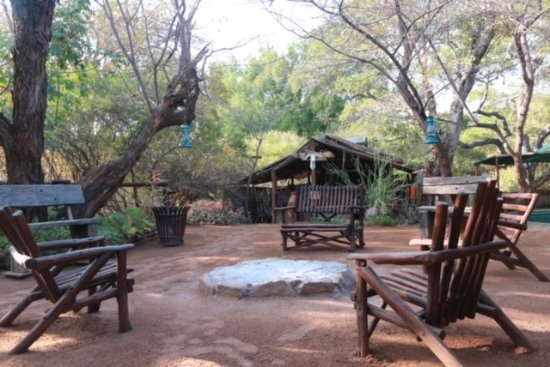 Louis Trichardt, Republika Południowej Afryki: Espace détente près du bar (au fond)
