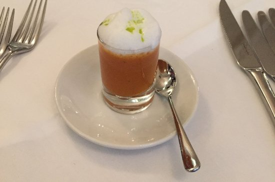 Acton Trussell, UK: Tomato - Basil Foam