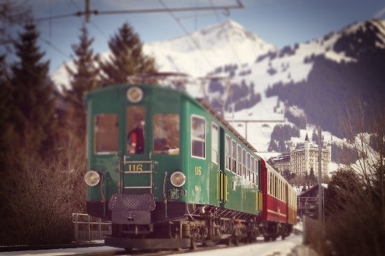 Bulle, Sveits: Train Fondue - Gstaad