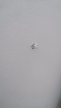 Chesham, UK: Screws coming out of walls