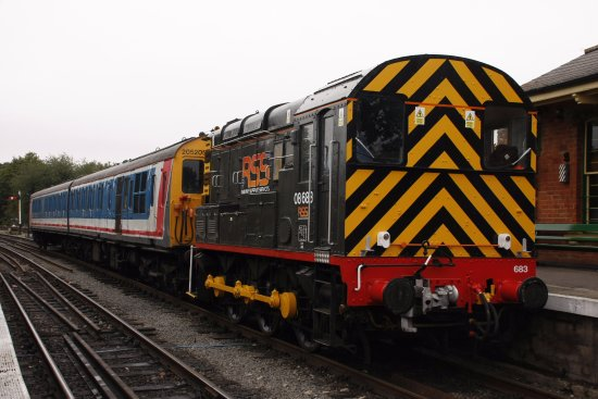 Chipping Ongar, UK: Class 08683 shunter