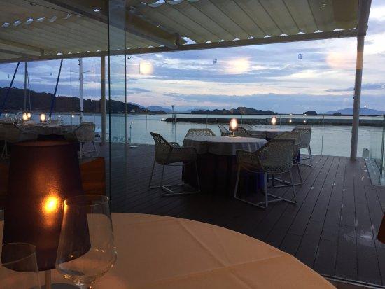 瀬戸内市, 岡山県, 海を眺めながらディナー