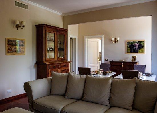 Soggiorno con camino - Picture of B&B Villa Chiara, Biandronno ...