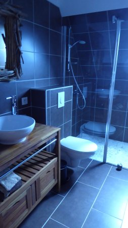 Sens Beaujeu, Francia: la salle de bain d'une chambre