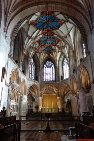 Tewkesbury Abbey: Inside the Abbey at the High Altar