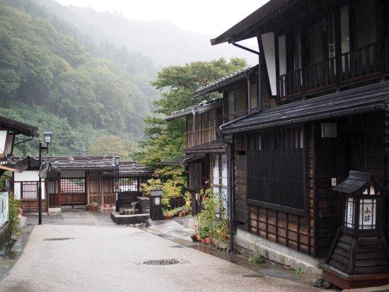 福島宿 上の段地区の町並み