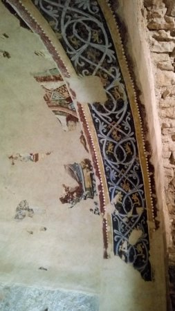 San Juan de la Peña: Detalle de fresco