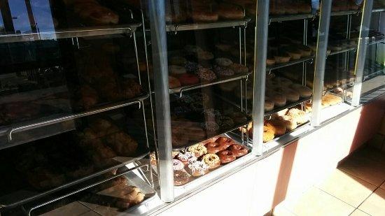 San Bernardino, CA: Great selection of donuts!