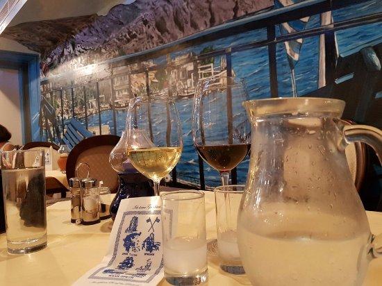 Restaurant Mythos Fisch und Lamm: Rückwand