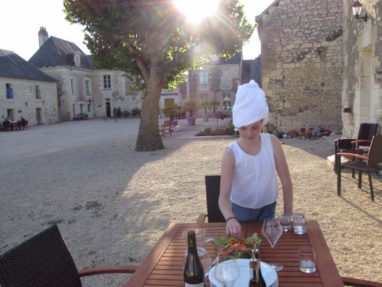 Loire Valley Retreat: Preparing dinner on our first night (post swim!)
