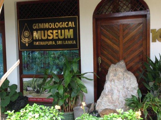 Ratnapura, Sri Lanka: Gemological Museum store front