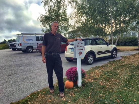 Owls Head, ME: Bill Johnson, affable owner of Breakwater Vineyards