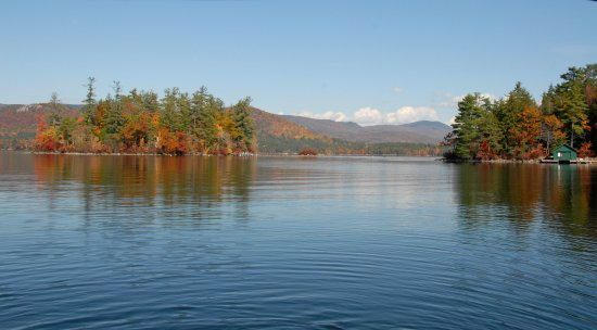 Holderness, NH: Fall Foliage on Squam