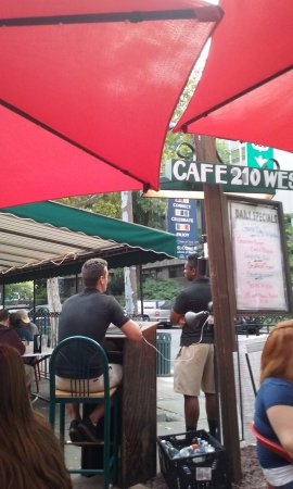 Cafe 210 West: Sit on the patio and people-watch.