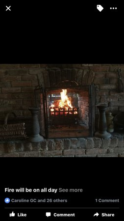Cotgrave, UK: Winter fire