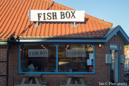 Fish Box Whitby: The Fish Box in Whitby opposite the co op supermarket.