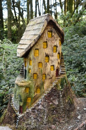 Millstreet, Irlanda: Fairy House carved from a tree trunk