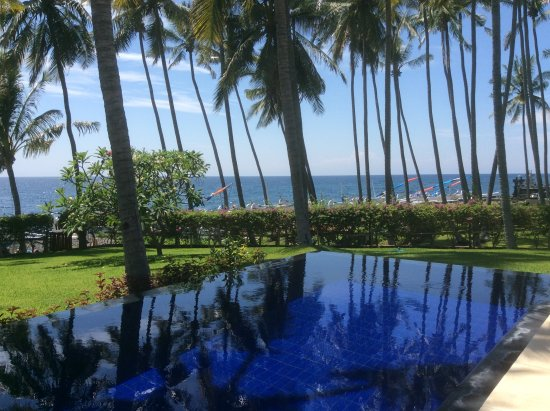Kubu, Indonesia: View from pool