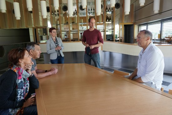 Winery Marof: After the tour, preparing for wine tasting.