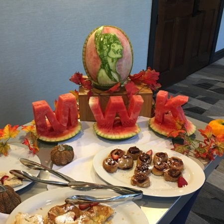 Rockland, MA: carved watermelon