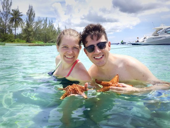 Cayman Private Charters : Enjoying Star Fish Point!