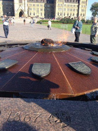 Ottawa, Canada: This was a commerative flame at the beginning of the walk to the parliament